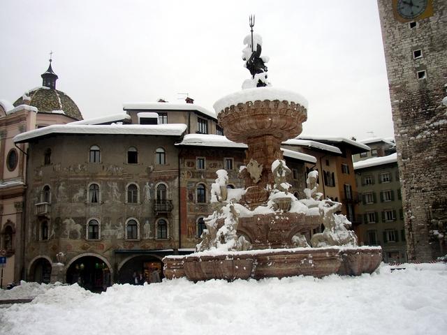 Trento - Il duomo sotto la neve